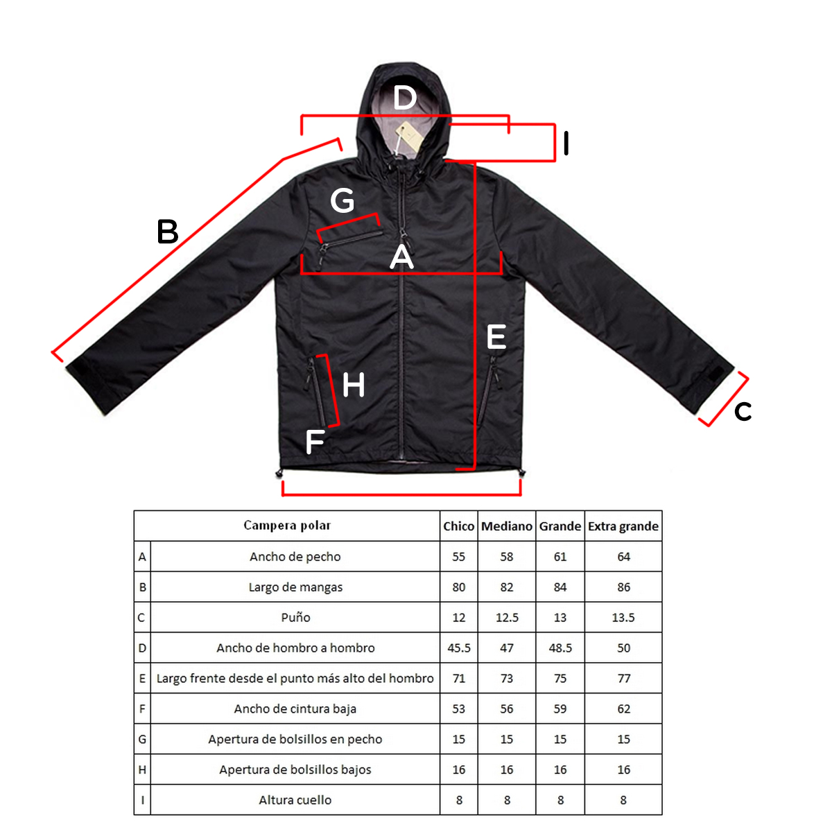 Campera Windbreaker Cardon