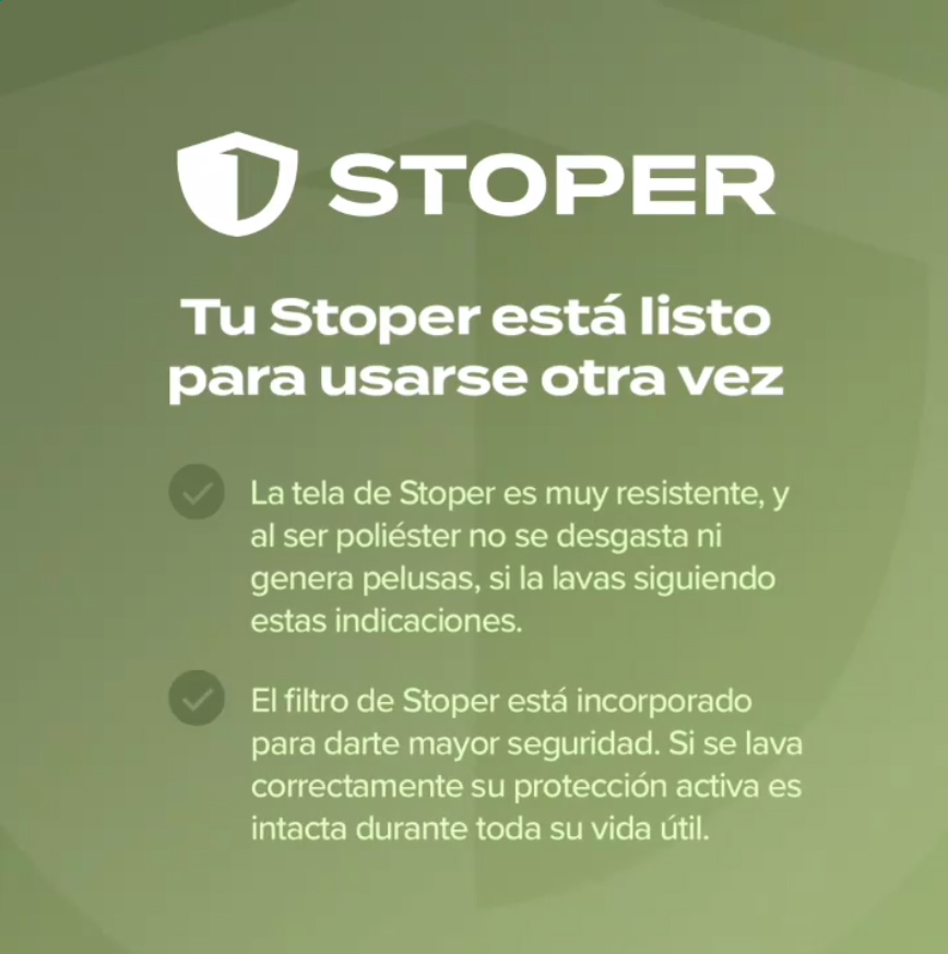 Tapaboca Reutilizable STOPER RUNNING