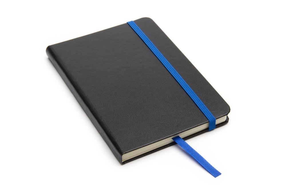 Cuaderno Writer A6 80 hojas Tapa Negra con detalle