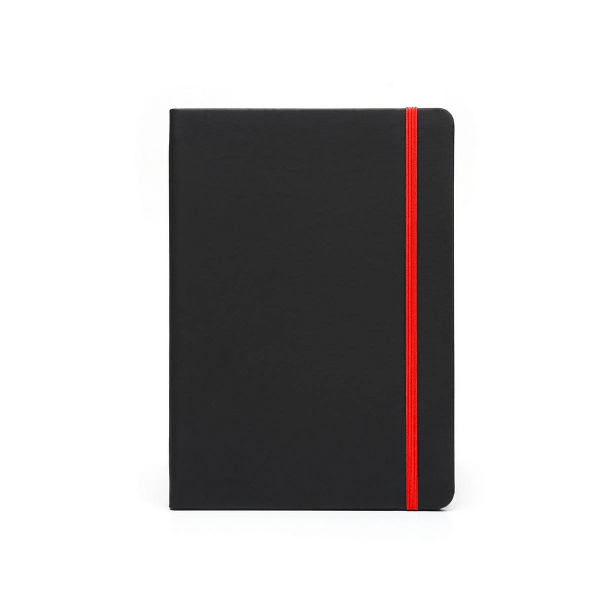 Cuaderno Writer A5 80 hojas Tapa Negra con detalle