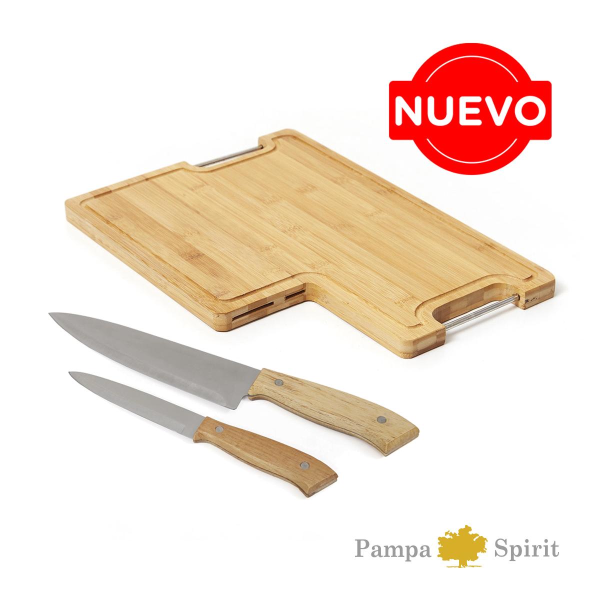 Set de Cuchillos tabla Bamboo
